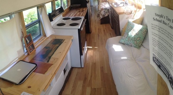 This Cool Tiny Home Conversion Started With A $2,000 School Bus