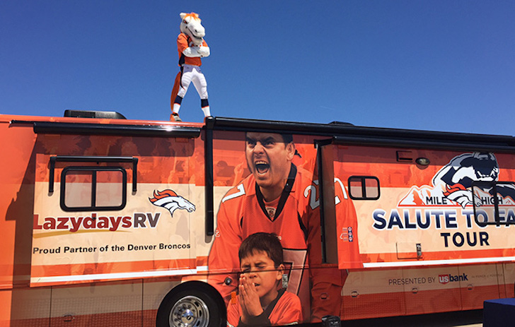 Denver Broncos RV wrap