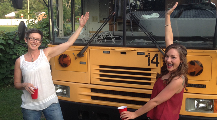 This Cool Tiny Home Bus Conversion Started With A $2,000 School Bus