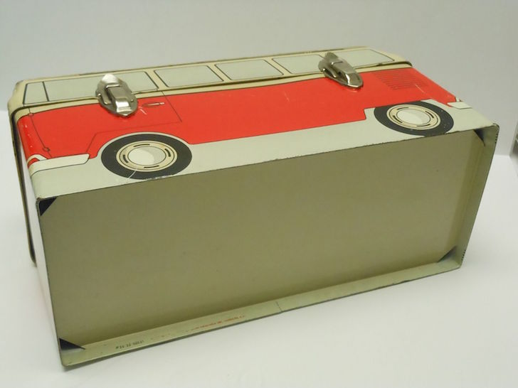 Inside metal lunch box