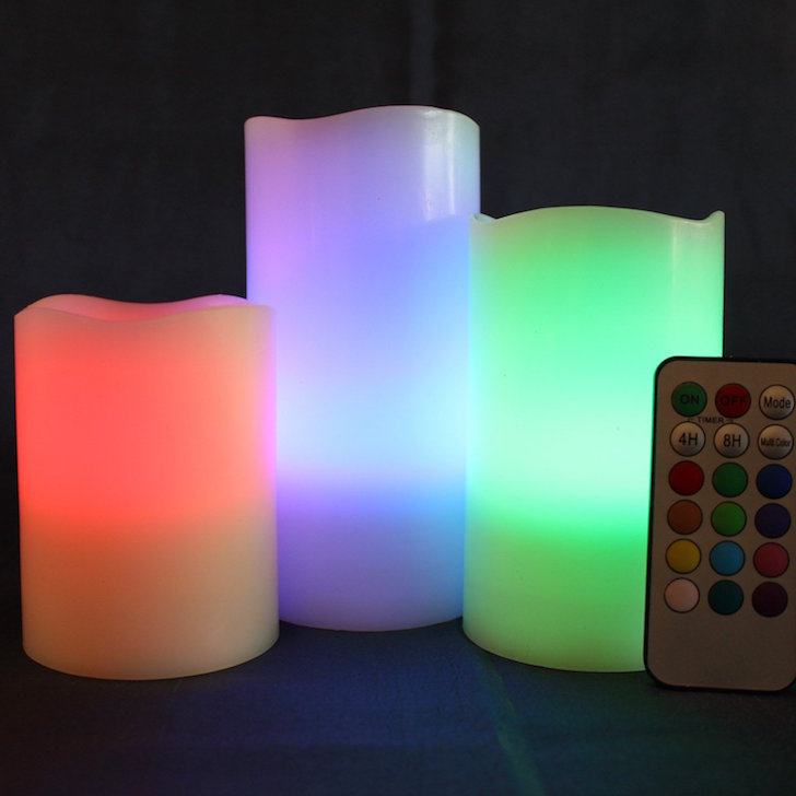 Multi-colored LED candles