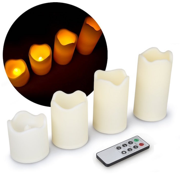 Remote controlled LED candles