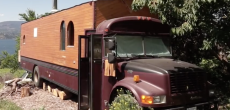 When You See The Inside Of This Tiny House School Bus You'll Want to Move in