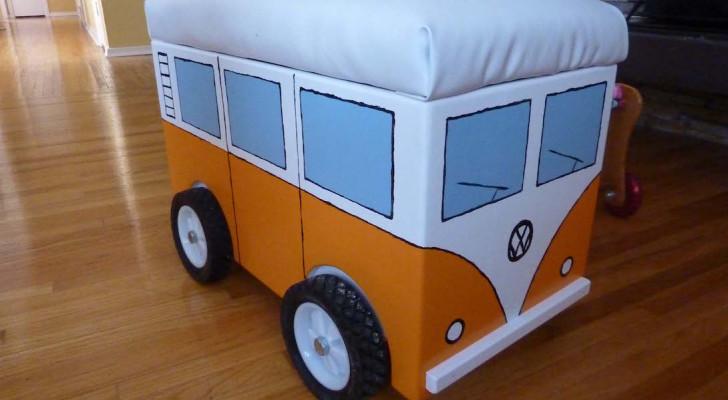 Picture Of The Day: Homemade Volkswagen Camper Van Storage Bin