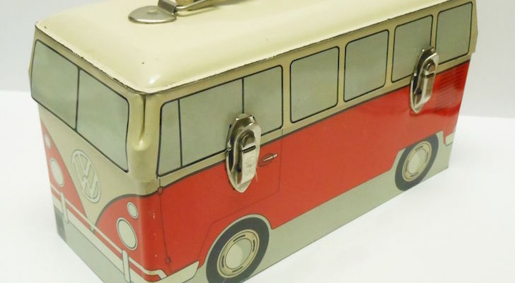 Rare 1960 VW Bus Volkswagen Vintage Metal Lunchbox