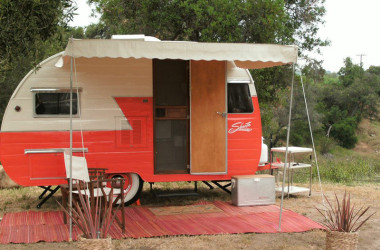 Woman Sews Stylish Camper Awnings That Only Look Vintage