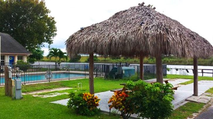 the pool pavillion