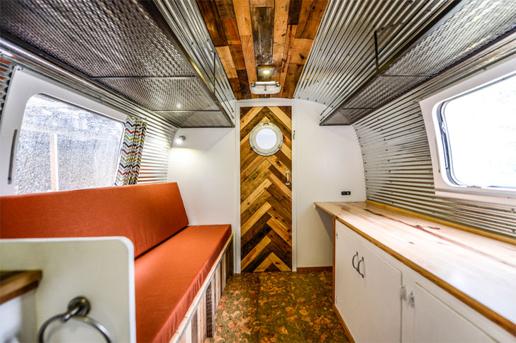 Exposed Wood And Corrugated Metal Highlight This Trailer