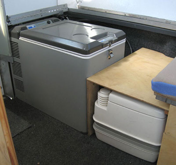 toilet and fridge