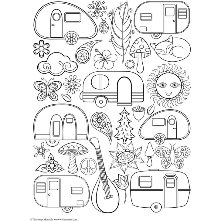 travel trailer coloring pages