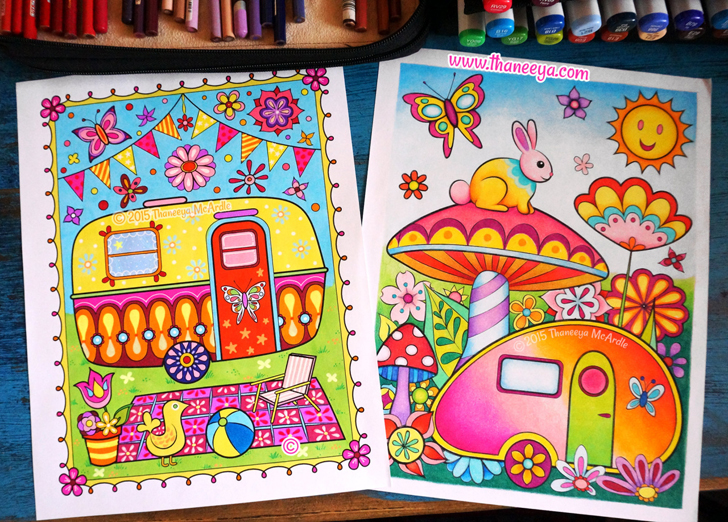 Happy Campers Coloring Book Pages