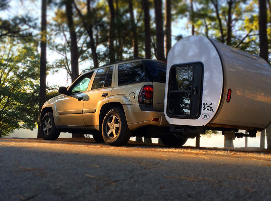 Expandable Travel Trailers >> No Wheels Needed: Expandable Camping Pod Attaches To Your ...