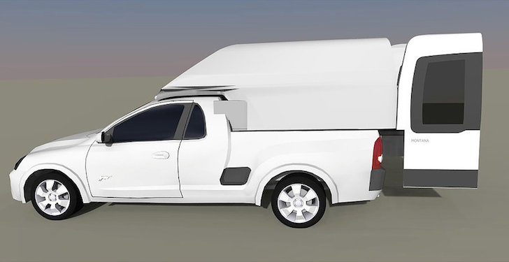 Chevrolet Montana truck camper design