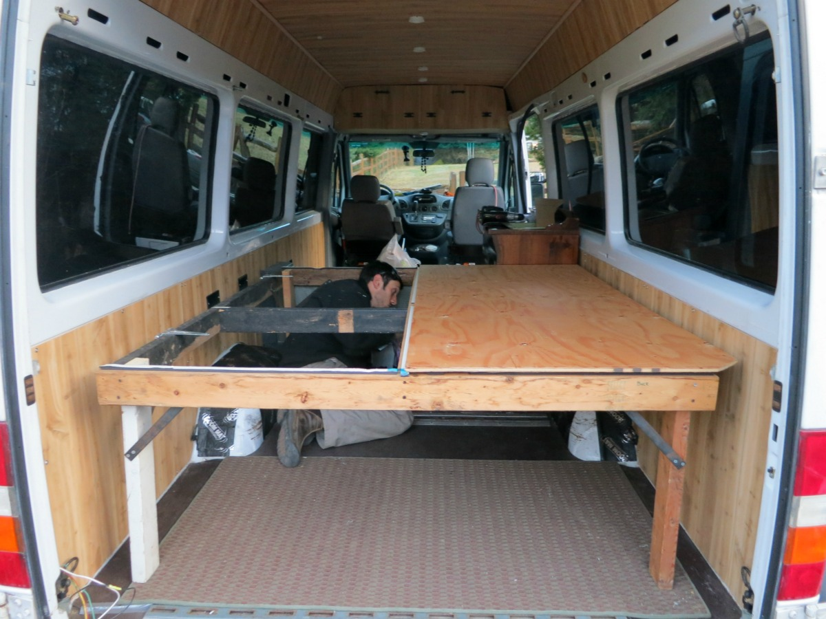 Dirtbag Darling SprinterVan Build Bed The Van