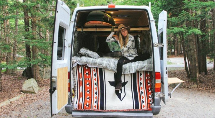 Couple Turns Old-Age Home Sprinter Van Into Dirtbag Dwelling
