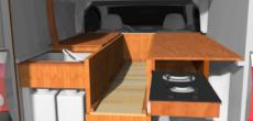 Chevrolet Montana DIY Truck Camper Custom Built With Fiberglass Truck Cap