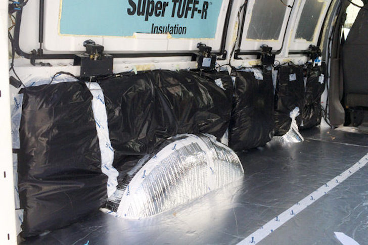 Insulation wrapped in bags