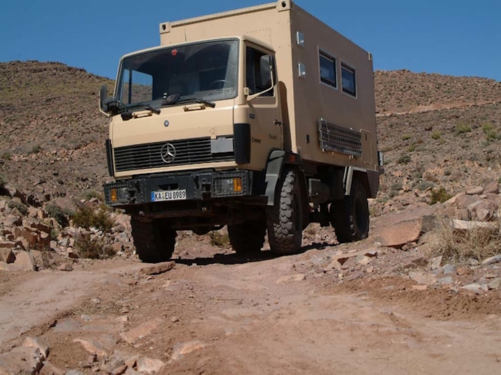 Outside of expedition vehicle