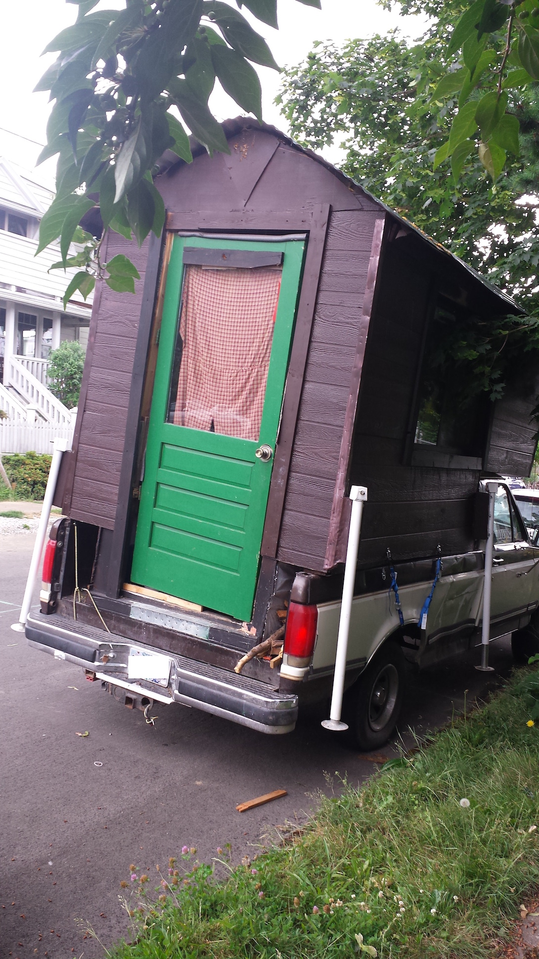 Rear of non stealth mobile cabin