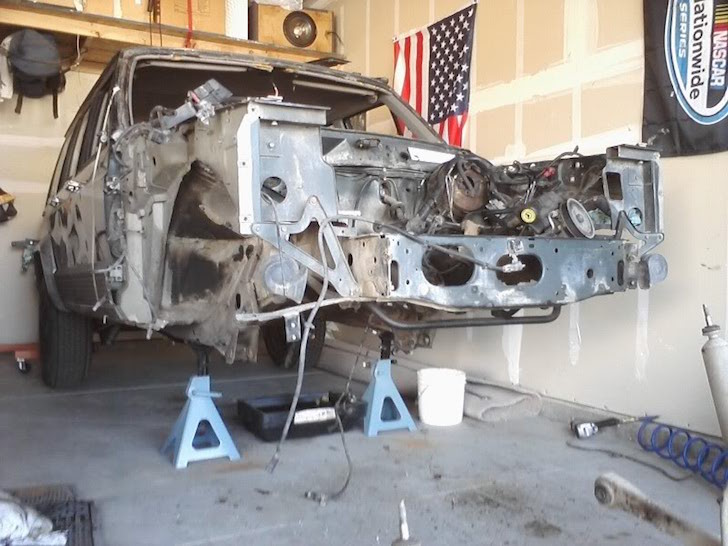 Removing engine on Jeep