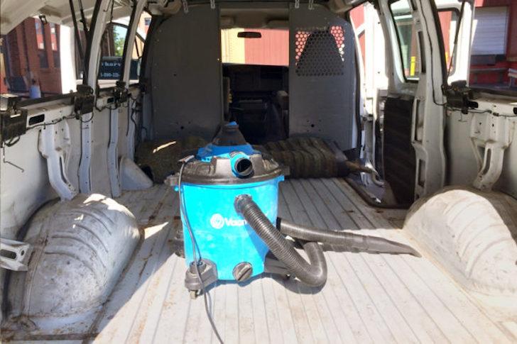 Vacuum in van