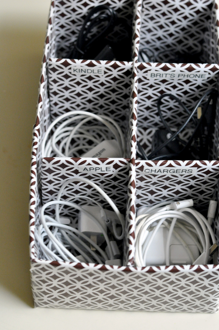 8 ways to keep cords and chargers organized in an rv Charger cord organizer diy