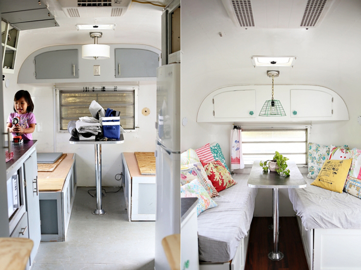 Family Effort Recreates Charming Vintage Avion Trailer