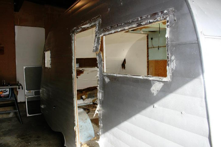 After removal of windows and doors