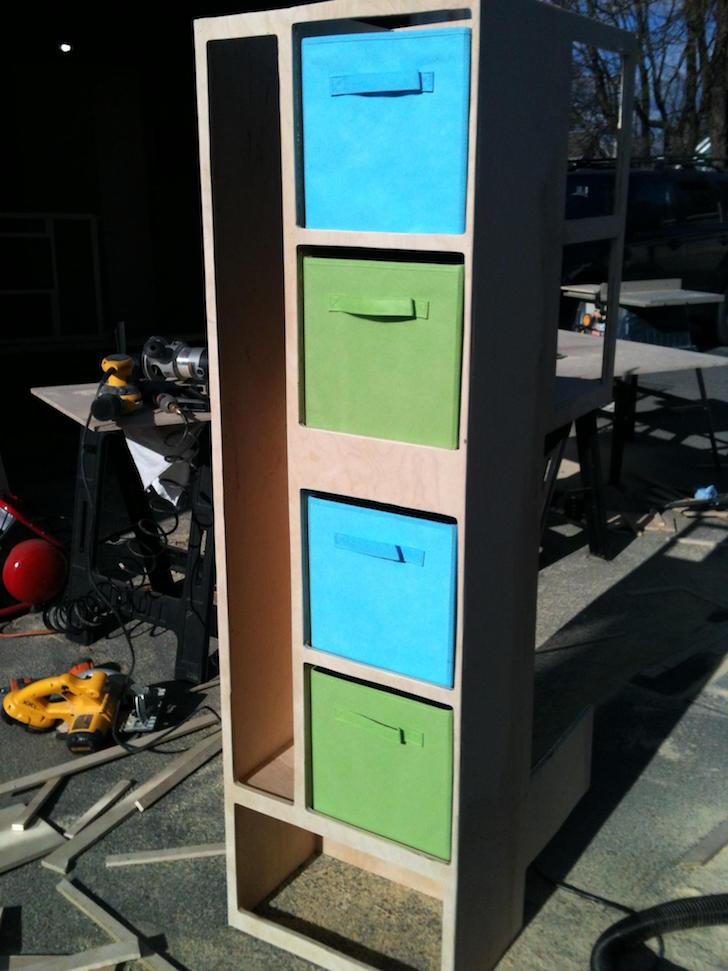 Cabinet bins