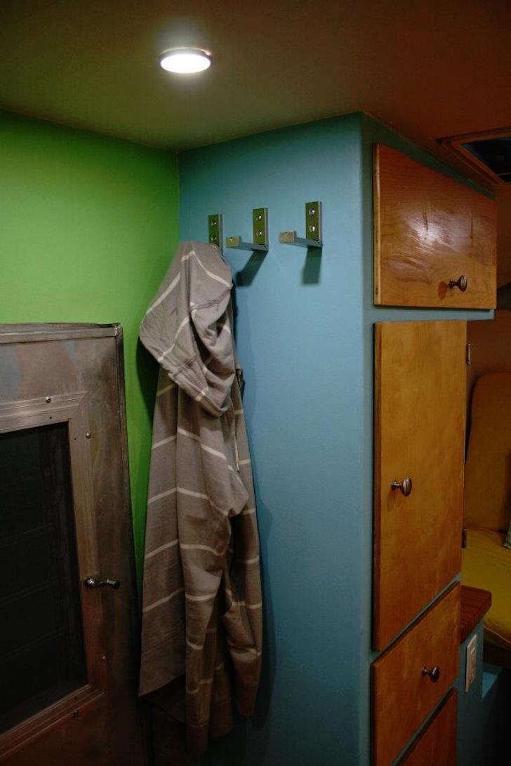 Colorful camper interior