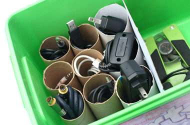 8 Simple Ways To Organize Cords And Chargers