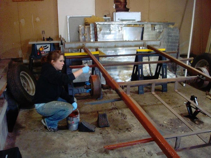 Metal trailer frame