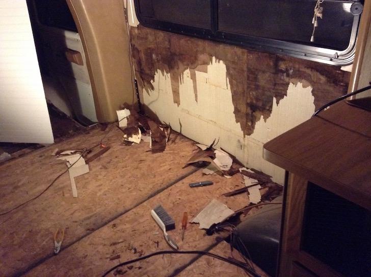 Redoing floor in motorhome