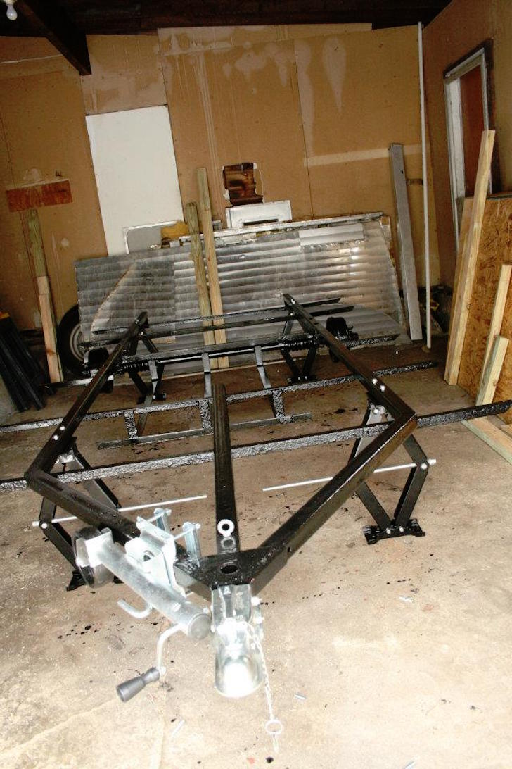 Rust proofed trailer frame