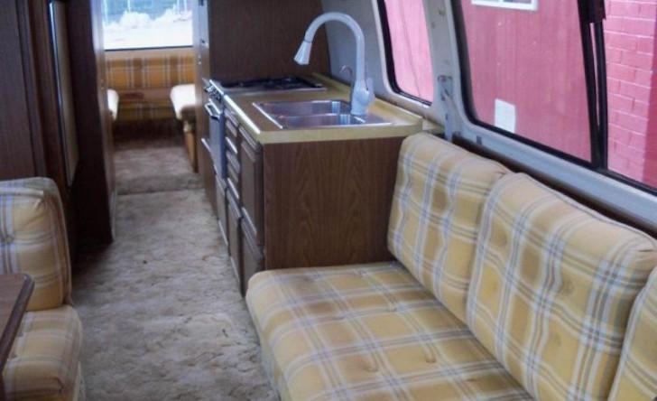 Sofa in GMC Motorhome