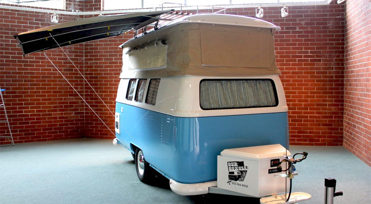 If You Like The VW 'Dub' Bus, You're Gonna Love These Camper Trailers!