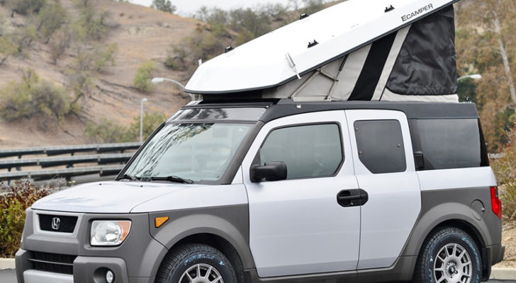 Turn A Honda Element Or Jeep Into A Popup Camper