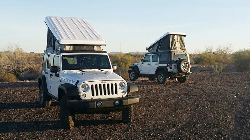 The Jeep C&er conversions include a hard top popup that can support bike and gear racks. & Turn A Honda Element Or Jeep Into A Popup Camper