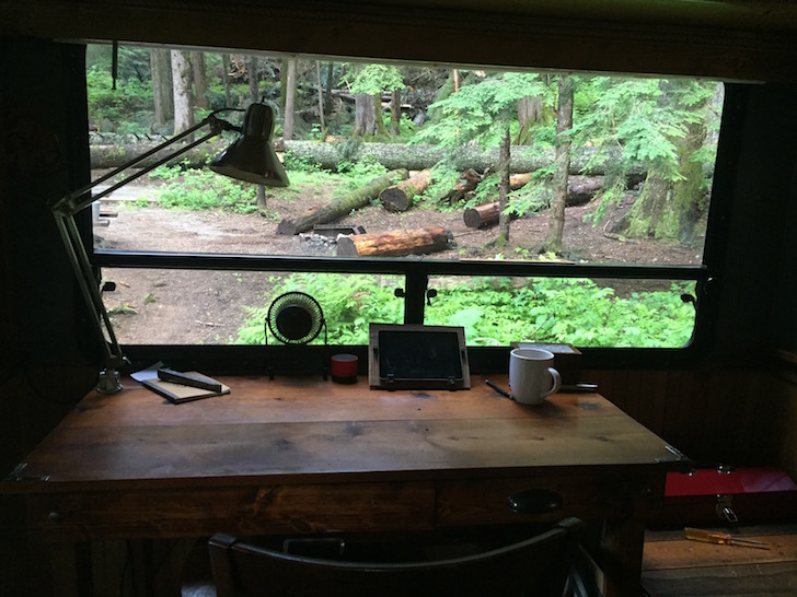 View from inside motorhome