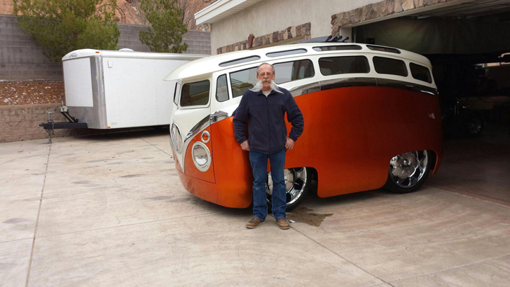 The Surf Seeker Custom Volkswagen Bus Looks Like A Cartoon