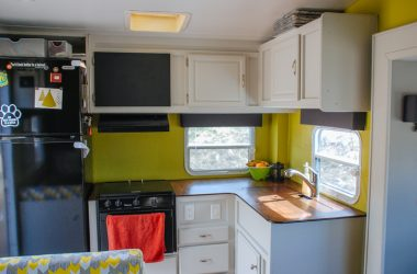 How To Reupholster Your RV Window Valances: No Sewing Required