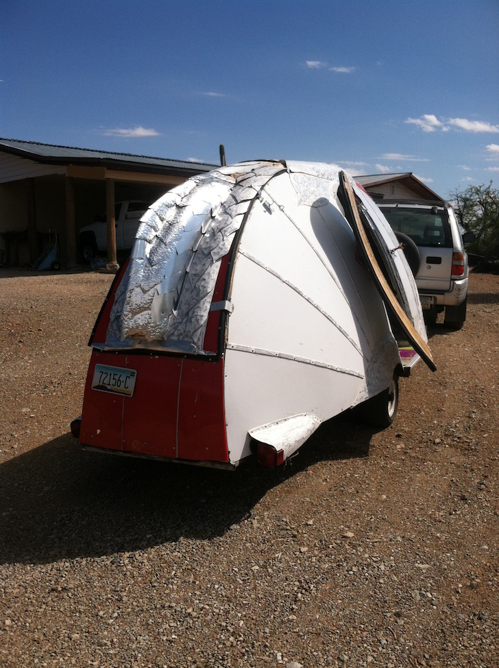 Rear of super light camper