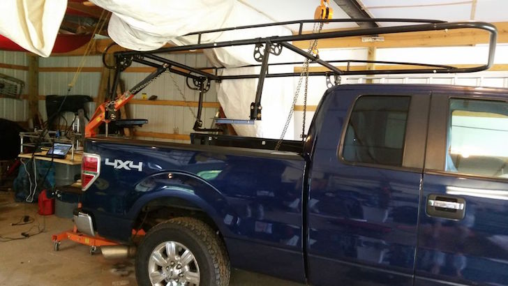 Rigging the roof rack