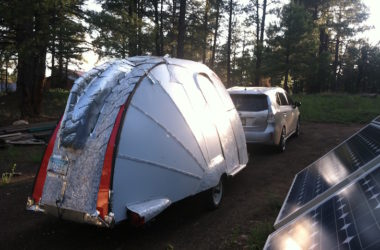 Burned Out Pop Up Trailer Base For This Aerodynamic Super-Light Camp Trailer