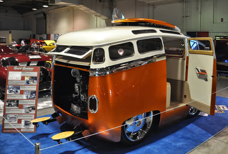 The Quot Surf Seeker Quot Custom Volkswagen Bus Looks Like A Cartoon