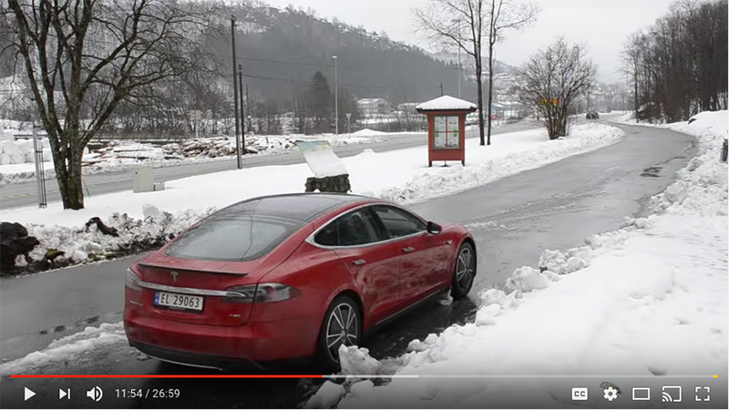 Tesla-wintercamping