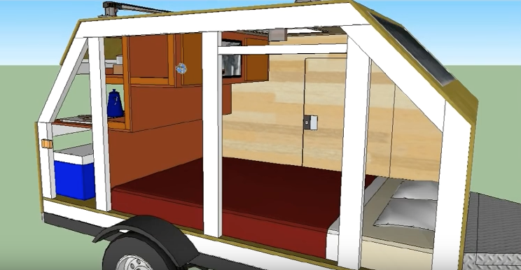 56 s f micro cabin based on ironton trailer