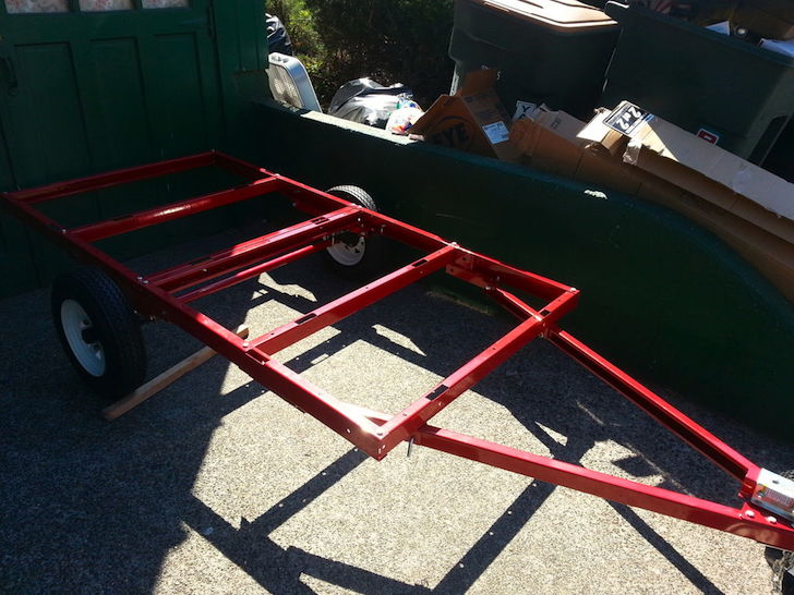 Harbor Freight trailer gypsy wagon