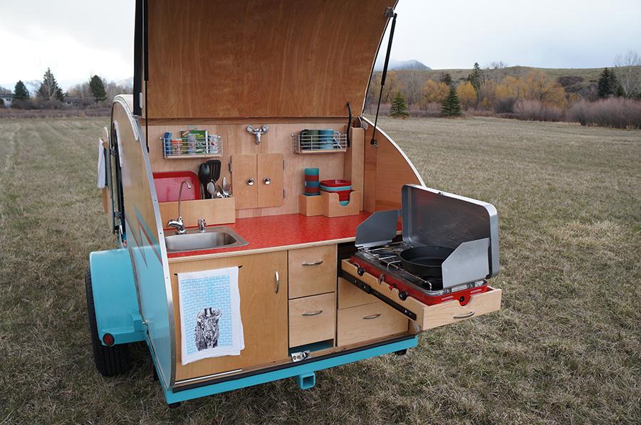 Montana Artists Build Teardrop Trailer Using Wrecked Auto Parts