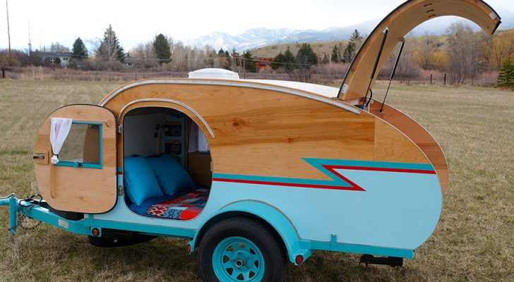 Montana Artists Build Teardrop Trailer Using Wrecked Auto Parts